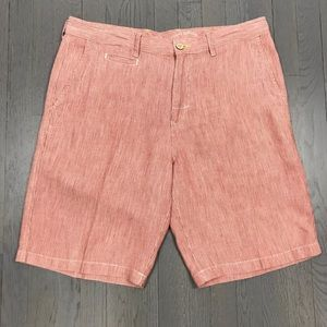 Tommy Bahama Relax Linen Red Shorts 10.5 Inch